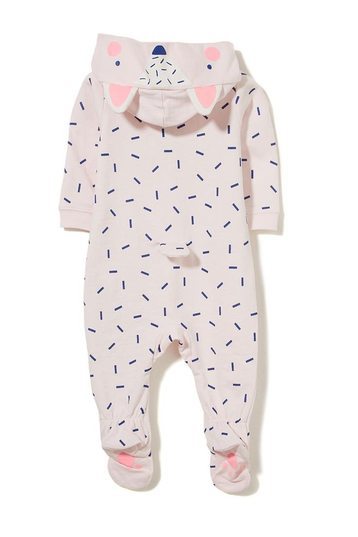 Keep your bub cosy in our cotton Arlo Suit. Features hood and covered feet for extra warmth. 100% Cotton.