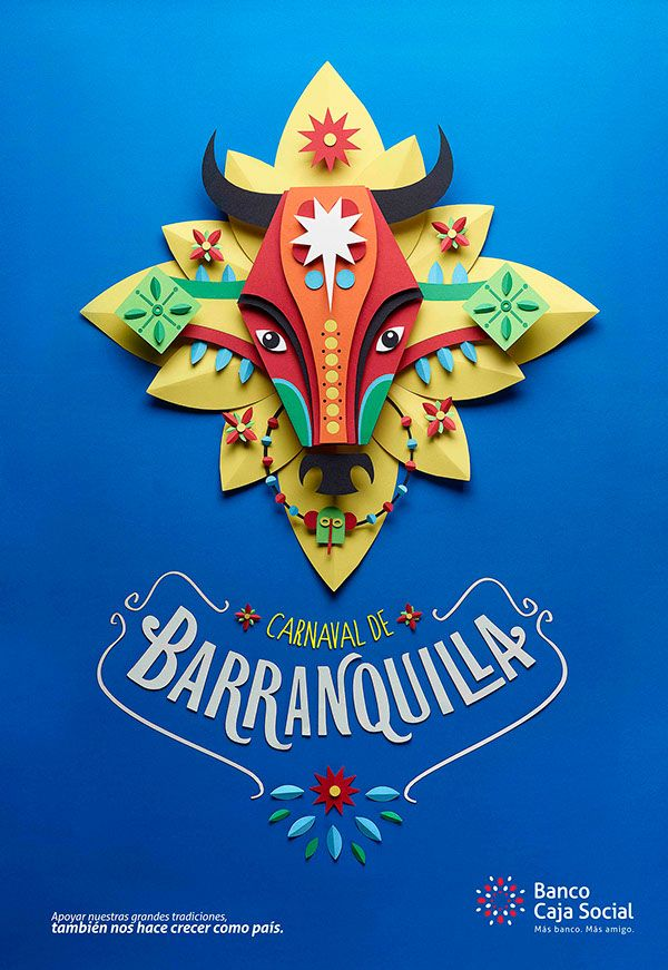 I really like the hand made feeling that the bull and the flower behind it look like hand made paper/origami decorations you would see at a Spanish fiesta. I also really enjoy the way the text curves around and complements the visual very well.