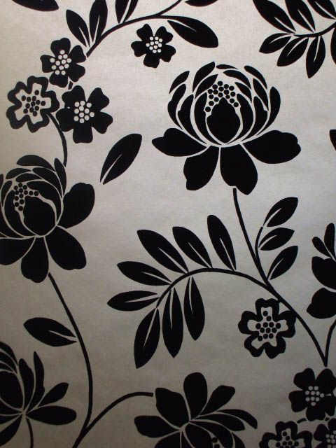 1000 images about diy wall art on pinterest black for Black and cream wallpaper