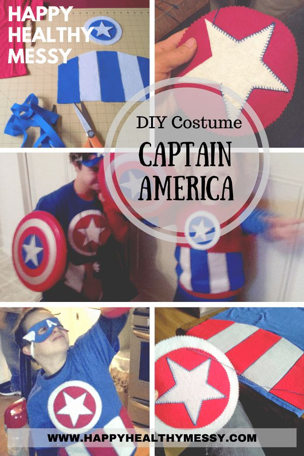 DIY Halloween Costume Captain America