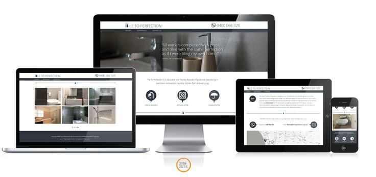 #responsive #website for a small business, highlighting their luxurious bathroom finishes. #webdesign #webdevelopment  www.divinedigital.com.au