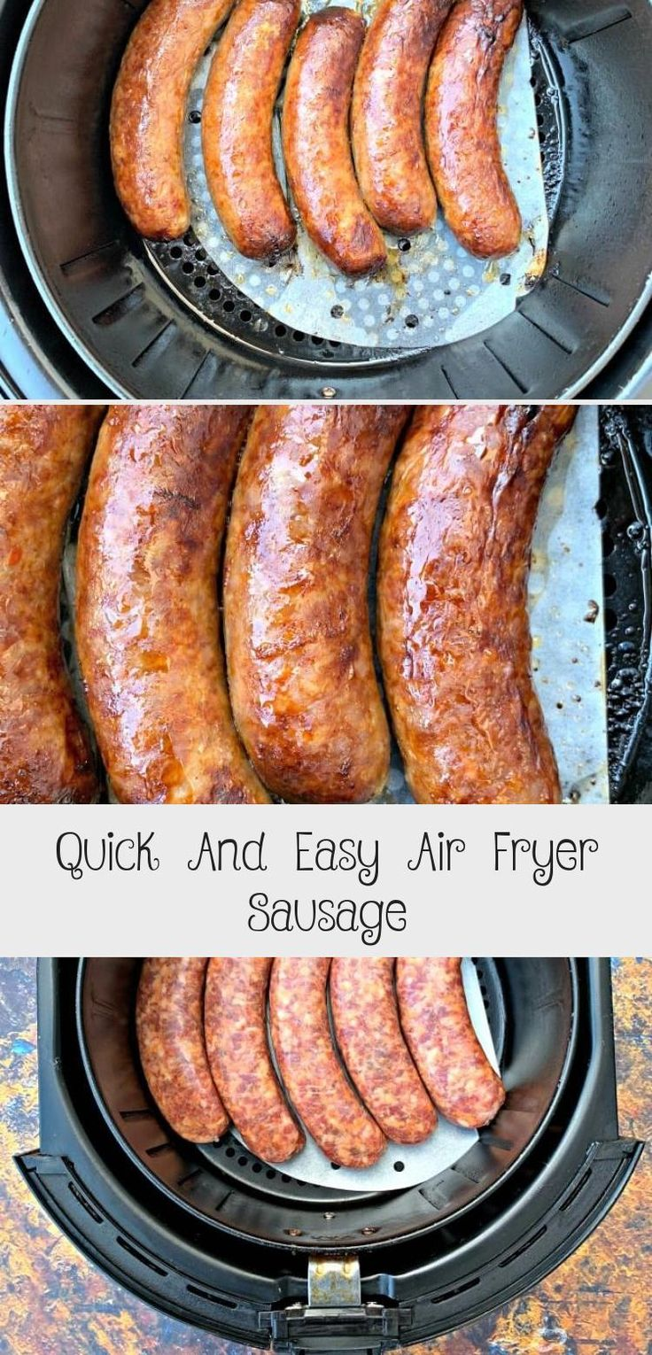 Quick And Easy Air Fryer Sausage in 2020 Italian sausage