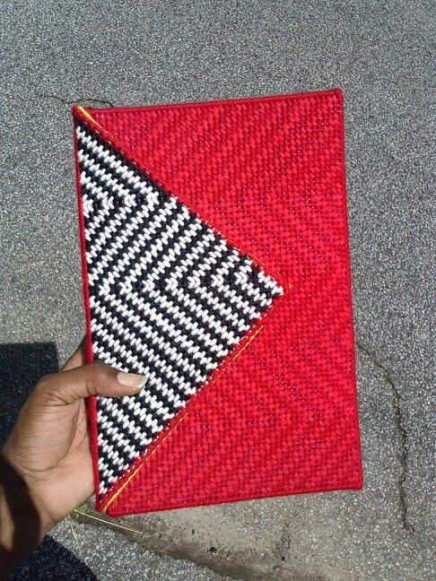 Plastic Canvas clutch