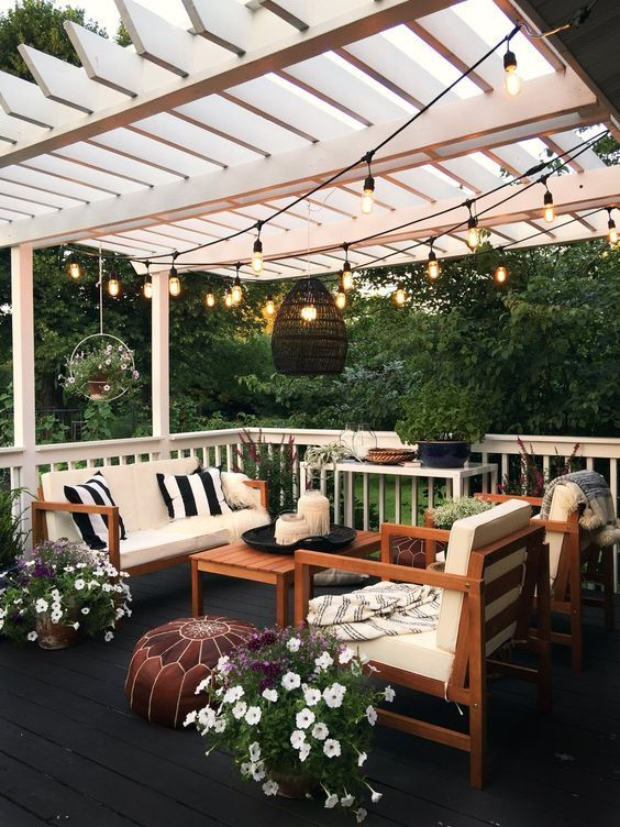 Pergola Lighting Ideas #pergola #beleuchtung #lichter #decorhomeideas