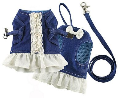 IsPet Denim Blouse harness Set