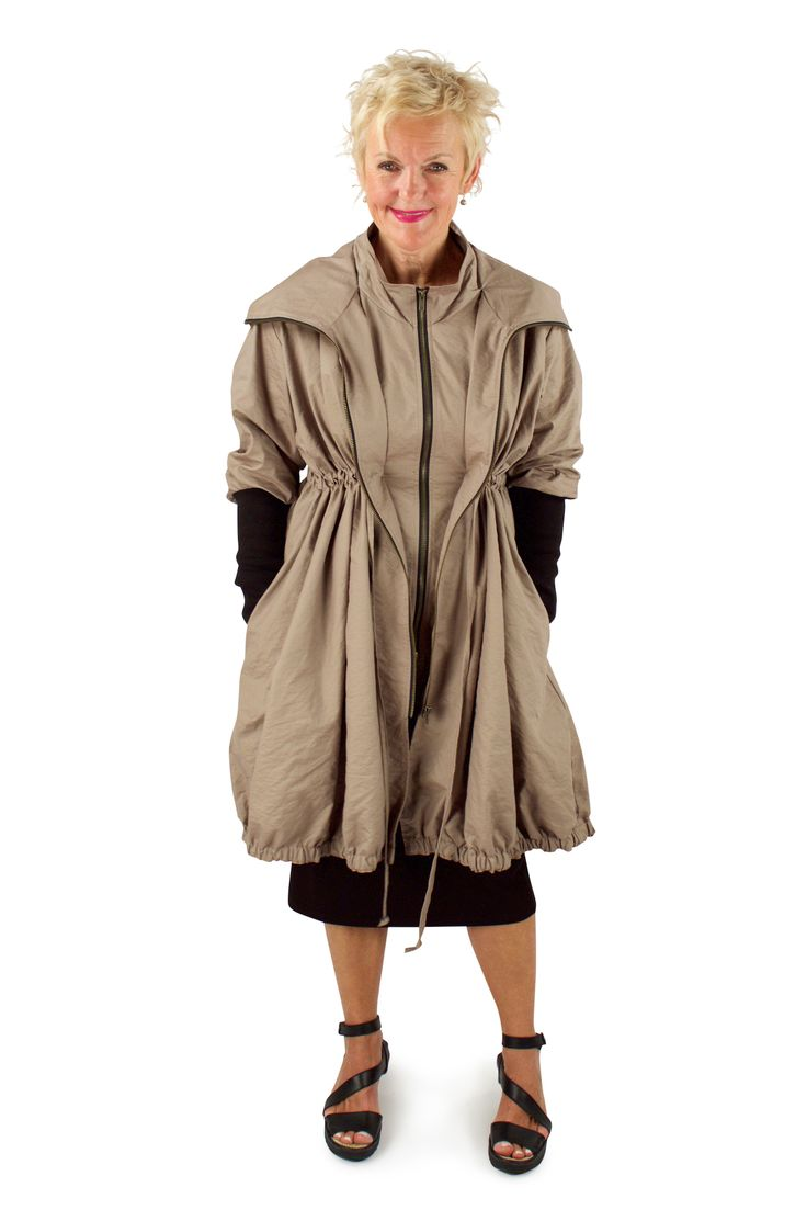 Lousje & Bean Bubble Coat in Taupe Spring 2017 Collection #lousjeandbean #bubblecoat #taupe #londonflyshoes #bestcoat #raincoat #springcoat #spring2017