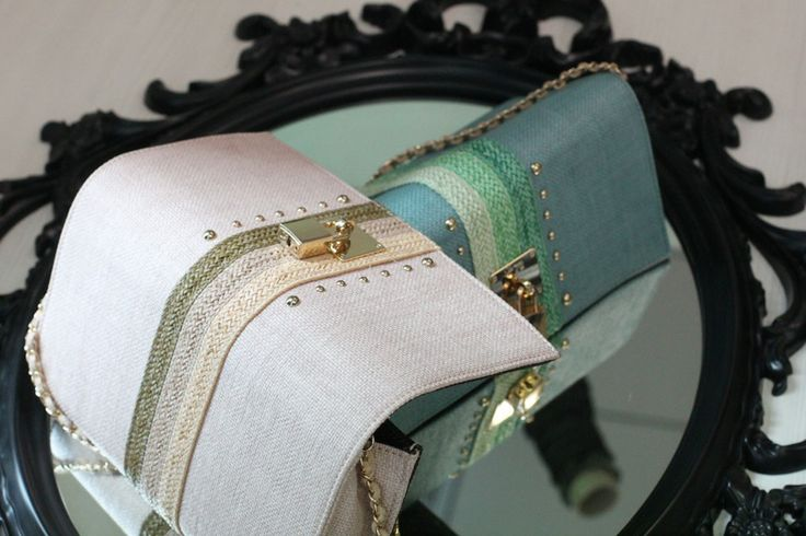 #Pastel colors V73 Bandes Rafia #Clutch See more on: http://goo.gl/1NwL7W