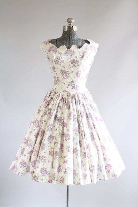 Jahrgang der 1950er Jahre Kleid / 50er Jahre von TuesdayRoseVintage