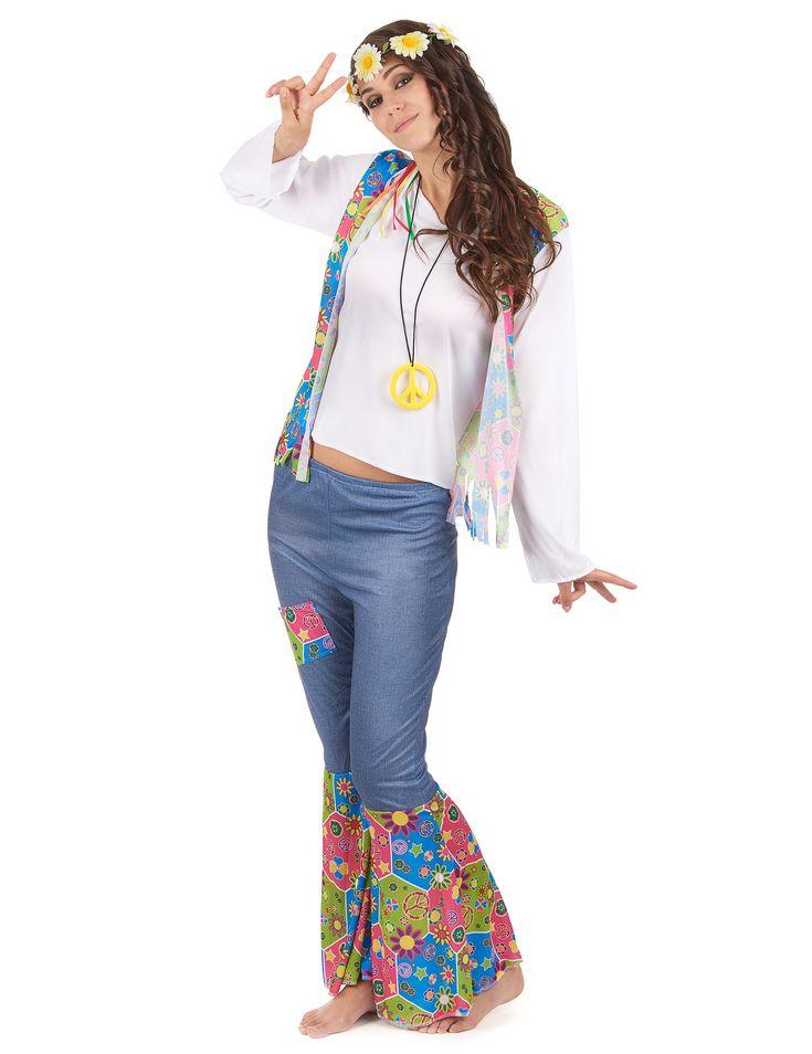 Disfraz hippie mujer-1