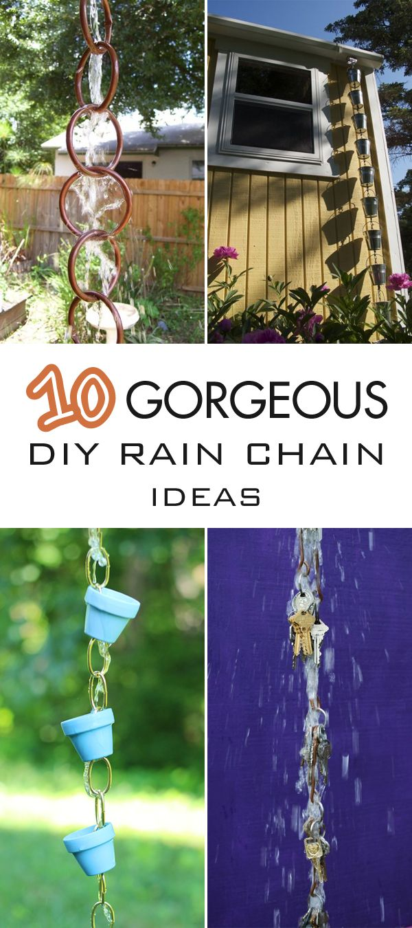Here are 10 DIY rain chain ideas that are totally beautiful and simple to make.