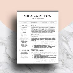 Professional Resume Template for Word   CV Template   Modern Resume Design   Two…