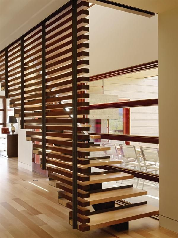 Wood Stairs Design For Terraces Home: Simple Wooden Stairs U2013