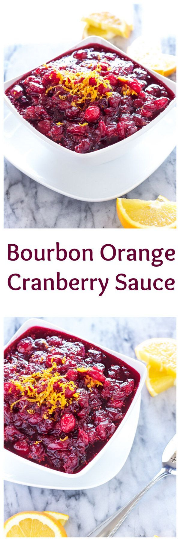 Bourbon Orange Cranberry Sauce | Recipe Runner | Add a burst of flavor to your cranberry sauce with sweet oranges and boozy bourbon!