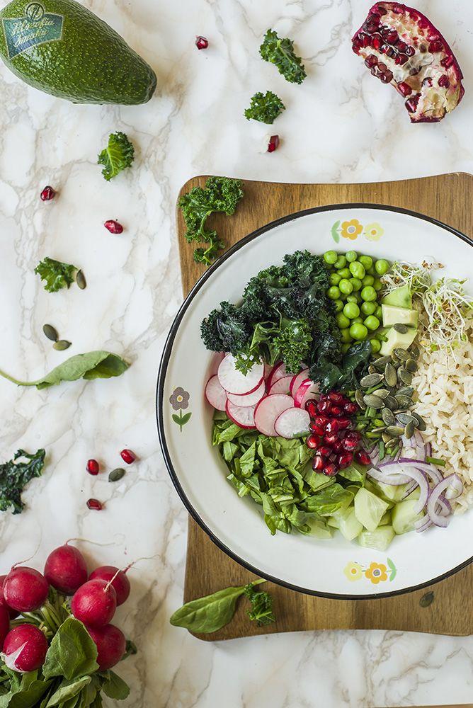 Ryż z jarmużem i awokado
