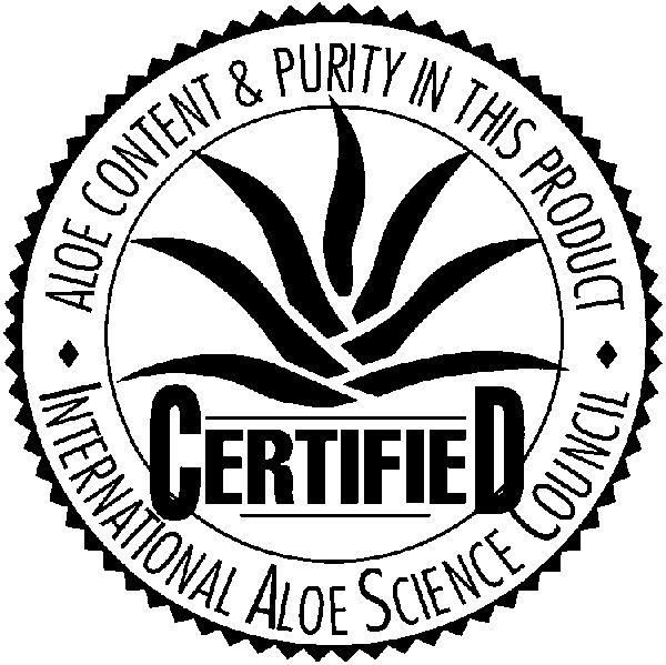 Label IASC - International Aloe Science Council