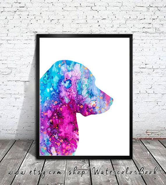 Labrador 3 Watercolor Print, Children's Wall, Art Home Decor, dog watercolor, watercolor painting, Labrador art, animal watercolor, dog art