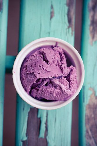purple ice cream for a hot summer party.  What a treat.