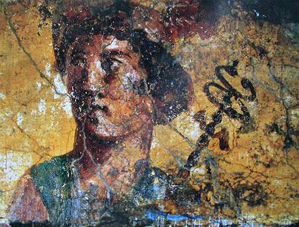 Image result for Head of Mercury Pompeii wall painting