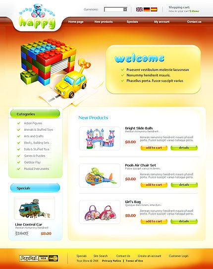 Baby Happy osCommerce Templates by Hilary