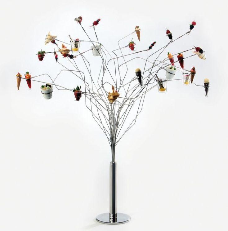 Árbol inox gigante para miniaturas , aperitivos y degustaciones.... Glass & Service suministros hosteleros... www.glassandservice.com