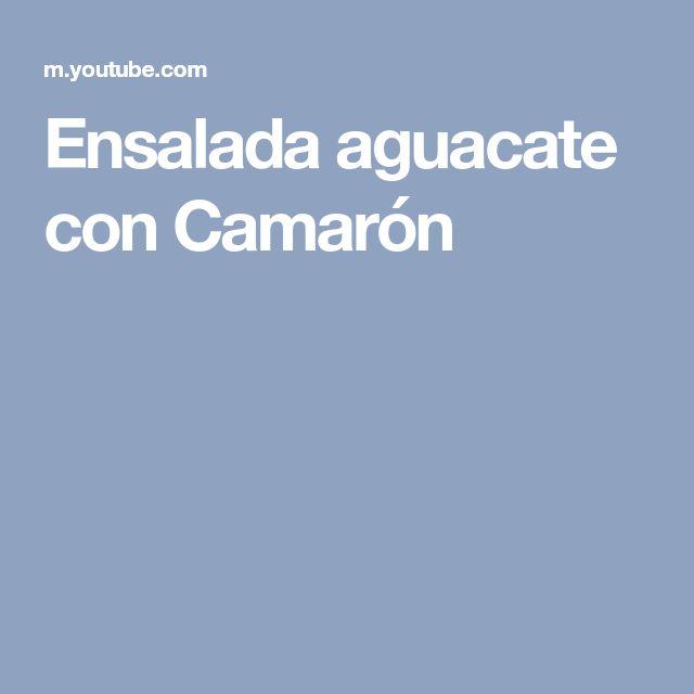 Ensalada aguacate con Camarón