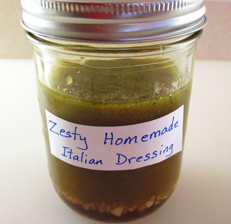 Zesty Homemade Italian Salad Dressing