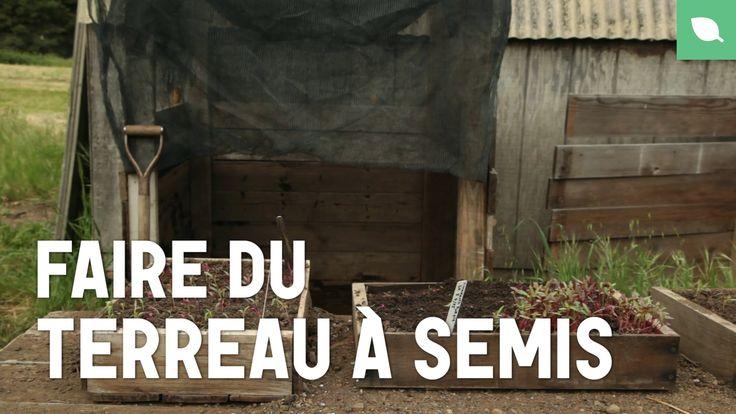 Dans cette leçon nous allons faire du terreau à semis maison Matériel: • 1 seau de compost • 1 seau de terre du jardin • Pelle • 2 Brouettes • Tamis Faire le...