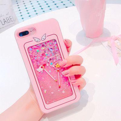 Liquid Sakura Magic Wand Phone Case for iphone 6/6s/6plus/7/7plus/8/8P/X from pennycrafts