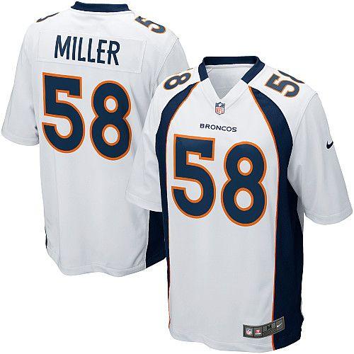 Men's Nike Denver Broncos #58 Von Miller Limited White NFL Jersey Sale