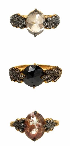 holy goodness..... these rings are absolutely stunning!! i rarely love a ring that isn't vintage but these are just too wonderful! (designer Cathy Waterman)