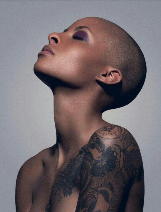 album head photo shaved,