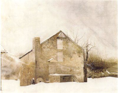 Why I like Andrew Wyeth: his innate understanding of the beautiful/bleakness divide of rural America. Is that a pretentious explanation? Yes. But am I right? Yes.