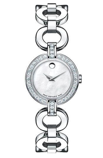 Movado 'Bela Moda'Movado Belamoda, Diamonds Bracelets, Bracelets Band, Jewelry, Bela Moda, Diamond Bracelets, Bracelets Watches, Steel Diamonds, Stainless Steel