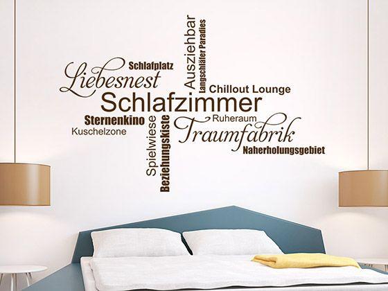 schlafzimmer wortwolke traumfabrik - Wohnideen Fr Schlafzimmer Mit Wandtattoo