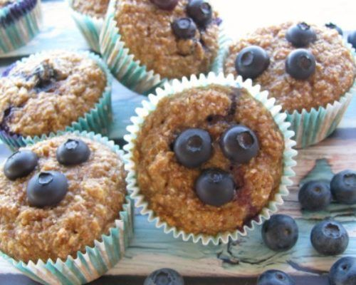 The Best Blueberry Applesauce Bran Muffins – Simple Acres Blog