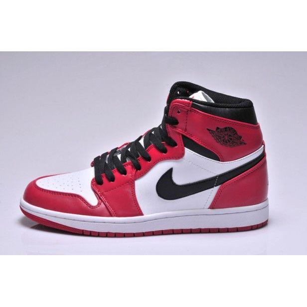 Nike Air Jordan 1 Biale Czerwone Czarne