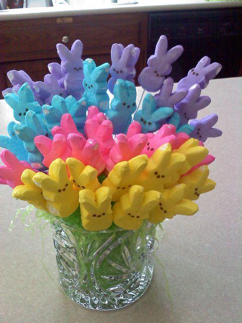 Peeps bouquet.  FUN