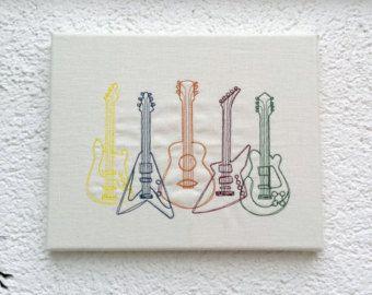Guitarras - líneas de decoración de pared cuadro de imagen
