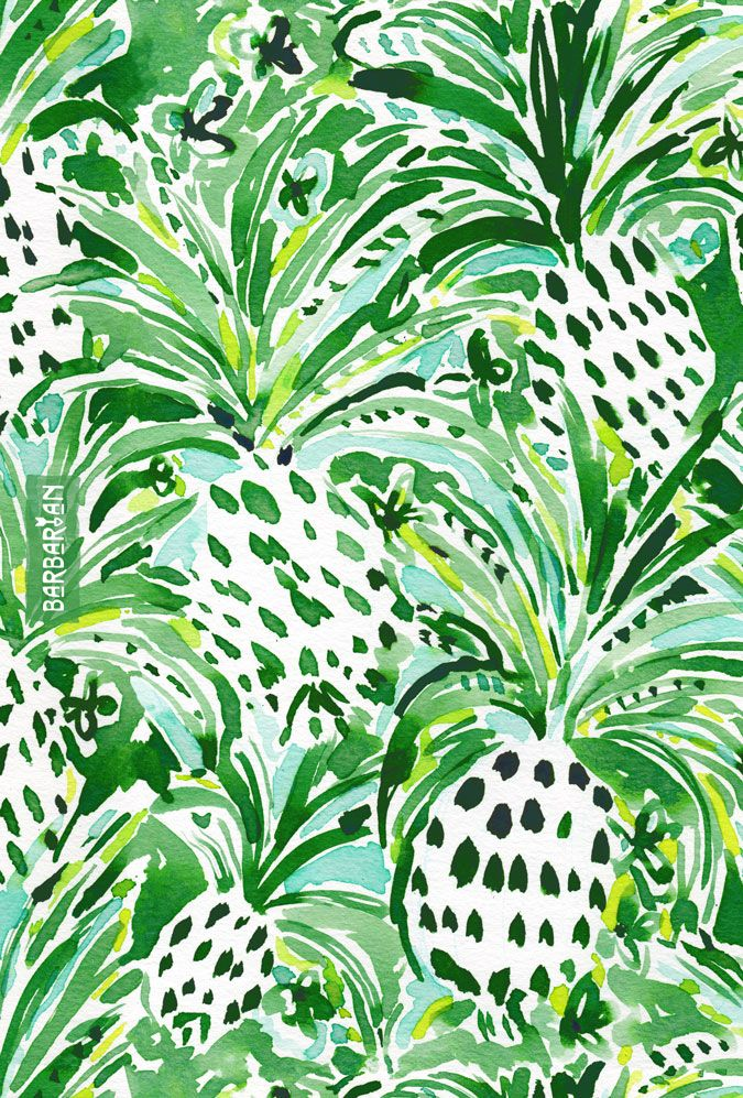 Pineapples and little flowers abound in this wild tropical print, inspired by Hawaii and the lush greenery, fruit trees and flowers that filled me with wonder when we stayed on Kona. Need to get back to that tropical sitch… | Click through to shop and download.