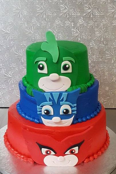 Pj Mask Cake Toppers Owlette Cat Boy Amp By