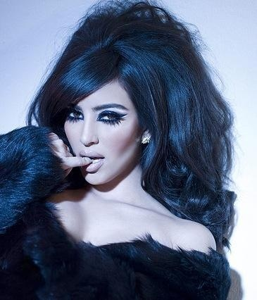 kim Kardashian retro make up before she became a laughing stock!