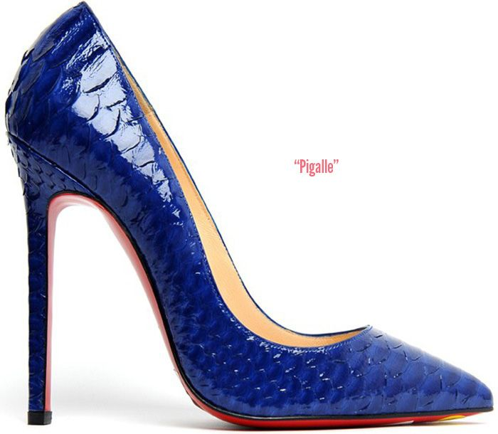 #Louboutin #Pigalle pump 120mm in Neptune Python