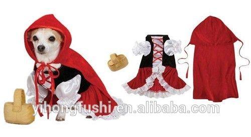 Caperucita roja disfraces para perros-xsmall halloween traje del perro de la primavera