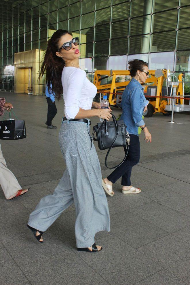 Jacqueline Fernandez depart for film 'Flying Jatt' schedule in Punjab