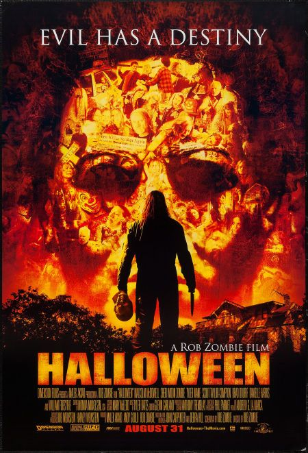 """Halloween  (Dimension, 2007). One Sheets (3) (27"""" X 40"""") DS & SS Advance. Horror. Starring Malcolm McDowell, Scout Taylor-Compton, Tyler Mane, Daeg Faerch, Sheri Moon Zombie, William Forsythe, Danielle Harris, Danny Trejo, and Bill Moseley. Directed by Rob Zombie."""