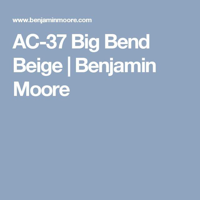 AC-37 Big Bend Beige | Benjamin Moore