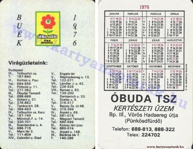 1976 - 1976_0824 - Régi magyar kártyanaptárak