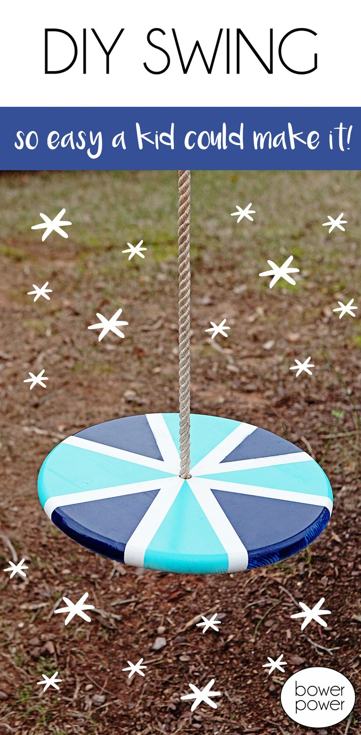 Your kids will love this swing. It's so easy to make, that you'll want to give it a try too!
