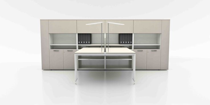Yo range two person workstation with integrated storage from leading Italian manufacturers UFFIX.