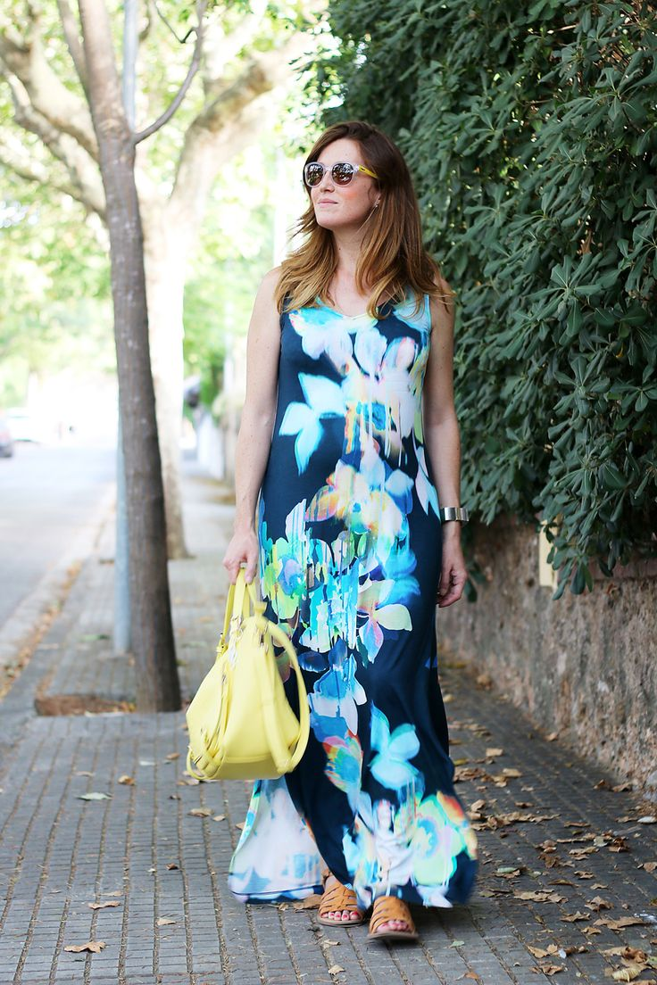 Lovely blue maxi dress